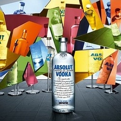 Very geometric vision  by Paul Graves for the Absolut Vodka 'Purity' 2011 campaign.