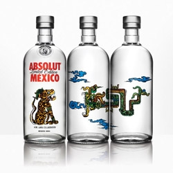 Absolut Mexico is one of the best Limited edition packaging design created for Absolut Vodka. Mexican artist Dr. Lakra pays tribute to Mexico, representing three of the most important elements of the legendary Mayan culture