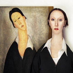 The Real Life Models by Flora Borsi - What if these abstract models were real people?