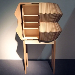Accordion Cabinet by Elisa Strozyk and Sebastian Neeb.