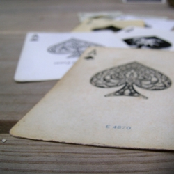 The World Famous Design Junkies post an expanding collection of photographs of the most important card in the deck: the Ace of Spades.