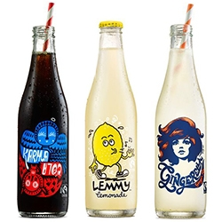 All Good has lovely packaging for Lemmy Lemonade, Gingeralla, and Karma Cola. Also check out the sparkling water bottles.