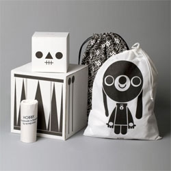 Lovely packaging for a series of new toys from Swedish toymaker Acne JR.