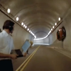 Michael Schumacher in the Mercedes SLS AMG Tunnel Experiment.... brilliant short film/AD for F1 :D