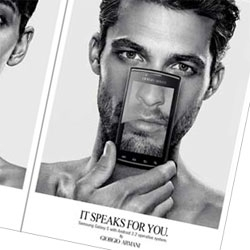 Armani / Samsung: 'It speaks for you'