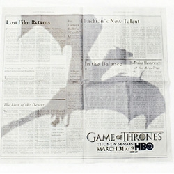 Game of Thrones ad in the NYT makes it look like a dragon is flying overhead!