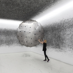 ADA is an analog interactive installation, kinetic sculpture, and post-digital drawing machine by Karina Smigla-Bobinski.