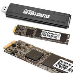 "A way to upgrade the 11"" Macbook Airs to 256GB! And a USB 3.0 adapter for easy system cloning or as a super usb key..."