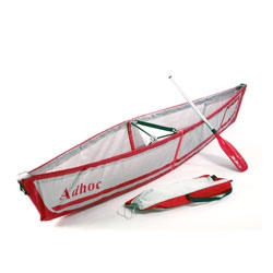The 'adhoc folding canoe' a collapsible design that folds into a backpack sized pouch. By Ori Levin of Studio Tsor Design.