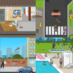 Check the new playables Adidas Original Games. Very cool and fun flash games made of Pixel Art.