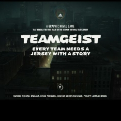 adidas launches online grafic novel game TEAMGEIST - every team needs a jersey with a story. With German national team players Ballack, Schweinsteiger, Poldi etc.