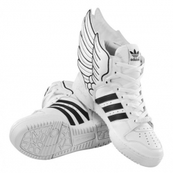 Beautiful design and concept by Jeremy Scott, for this new pair of Adidas Leather Wings 2.0.