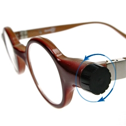 'Adlens' fluid filled lenses change power with the turn of a dial. Adlens funds and consults to help provide universal access to eyeglasses for people in Rwanda.
