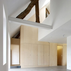 House NSV, a renovated farmhouse in Walhain, Belgium from adn Architects.