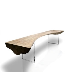 Adrian Swinstead's gorgeous sycamore arch bench.