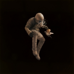 'Adrift' from artist Jeremy Geddes.The latest of his amazing 'cosmonaut' paintings to be released as a limited print.