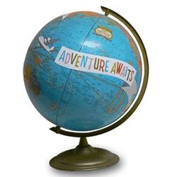 Imagine Nations ~ Art on vintage globes!
