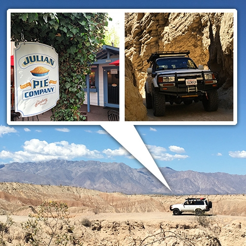 NOTCOT Road Trip - 60 hours in SE California. From being surrounded by greenery and animals in a cabin on top of Julian, indulging in legendary pie, off-roading thru The Slot in Anza Borrego, discovering new beer and more...