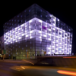 The ARS ELECTRONICA CENTER has a new home. Featuring over 4000 square metres of exhibition space, and dynamic facade. amazing exhibits.  linz, austria.