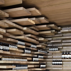 Here is a glimpse into the new Aesop store, located on Rue Saint Honore, in the historical part of Paris. Inspired by Parisian parquetry floors.
