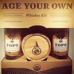 TOPO Distillery in Chapel Hill, North Carolina has a Age Your Own Whiskey Kit.