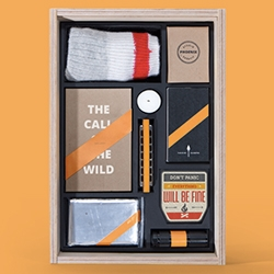 Agency Survival Kits by Phoenix , a Montreal Creative Studio - Available in fun sliding top wood boxes in Overtime, Power Outage, and Presentation sets.