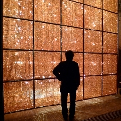 Misa Shin Gallery is a new Tokyo gallery, which opened this month with a massive cubic crystal and light installation by Chinese artists Ai Weiwei.