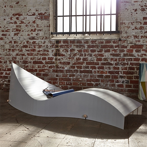 KOII Deckchair, spacesaving fold up / roll up deckchair, available in various colors from Sascha Akkermann.