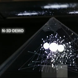 Naked-eye 3D (N-3D) Display by aircord, using an iPad and a projector.