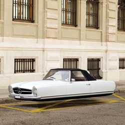 Renaud Marion Air Drive Series imagines retro automobiles as flying cars.