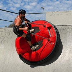 AirBoard is a gasoline powered personal hovercraft that rides on a cushion of air.