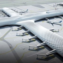 A new terminal at Shenzen Bao'an International Airport in China positioned as a gateway to China. Designed by architects Massimiliano and Doriana Fuksas, the terminal will have an incredible double skin canopy intended to let patterned natural light into the space.