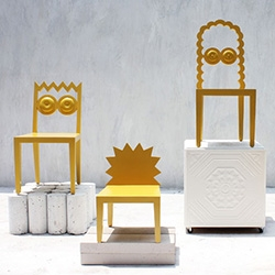 "56th Studio 'Caricature As Furniture' - ""Bad drawing is a good chair."" Simpsons characters, owls, and more transformed..."
