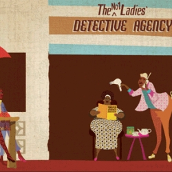 Airside's beautiful opening/closing credits for No. 1 Ladies' Detective Agency inspired by the painted signs of Botswana.
