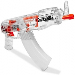 As any seasoned aqua-combatant will already know, there's absolutely nothing wrong with taking it seriously - it's all in the name of fun. With that in mind, here's the latest in rapid-fire water pistol technology, the AK-47 Aqua Fire.