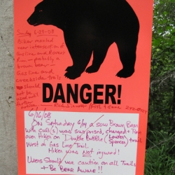 Who would guess that bear warnings could be so pretty? They could sell these at Target as dorm-room posters.