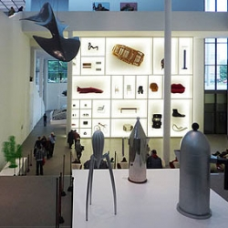 """Objects and Projects - Alessi: History and Future of an Italian Design Factory"" exhibit at Munich's Die Neue Sammlung with curator Alessandro Mendini."