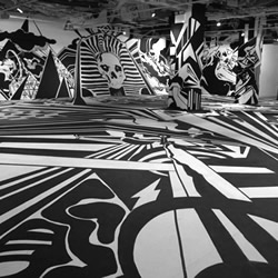 The final show at London's 'The Arts Gallery' before it's unfortunate demolition in early 2010, Mike Ballard's The All of Everything is a truly staggering installation that encompasses the gallery's entire space.
