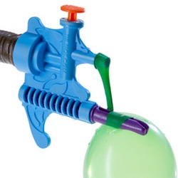 Tie-Not Water Balloon Filler & Tying Tool - Effortlessly fill and tie water balloons in a matter of seconds - attaches right to your hose!