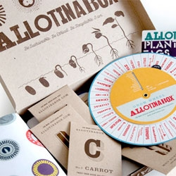 Great grow your own kit ALLOTINABOX with cute package design from ilovedust.