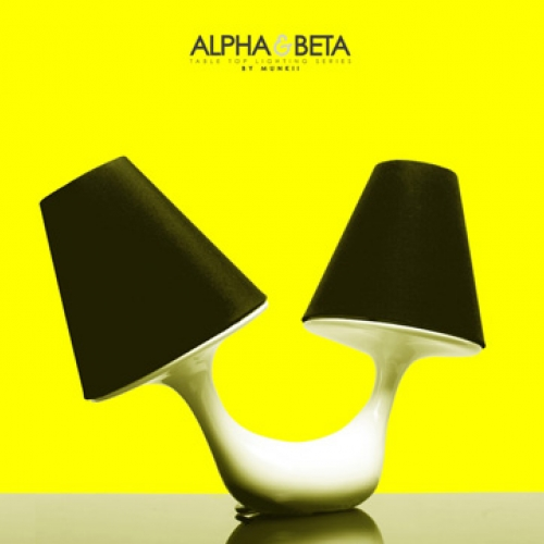 Affectionately named Alpha & Beta, the series is an asymmetrically designed desk lamp by munkii
