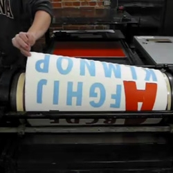 Some fun videos of a 1950s Vandercook Letterpress printing oversized alphabets.
