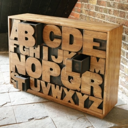 The Alphabet Drawers by Kent and London is inspired by vintage printing blocks, this beautifully finished chest of 26 drawers is made from solid oak - the perfect place to file everything from A-Z!