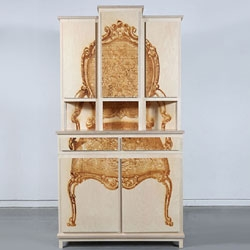 Dutch designer Mieke Meijer named this cabinet set 'Alter Ego'.