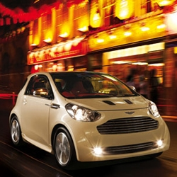 "Aston Martin announced today that their ""Cygnet"" city car concept - as luxurious as it is convenient and efficient - will go into production next year."