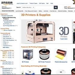 Amazon has a whole 3D Printers & Supplies department now! Lots of filament, accessories, printers and more.