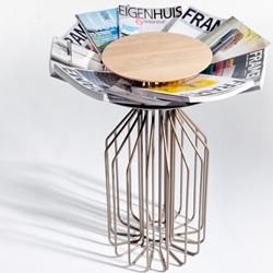 Amarant by Spell for LEF is a combination of a magazine holder and a side table. Inspired by flowers we named it Amarant meaning 'eternal abloom'.
