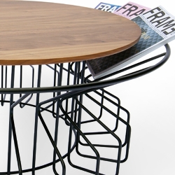 The Amarant coffee table from LEF! is a combination of a magazine holder and coffee table. The inspiration came from flowers, hence the name Amarant meaning 'eternal abloom'. Present your favorite magazines in a new and functional way.