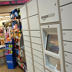 Amazon Lockers ~ instead of having things shipped to you, these have been popping up in grocery stores/drugstores/etc where you can pick up your package.