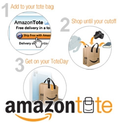 Amazon goes reusable tote bag! Amazon Tote ~ a local delivery service in Seattle, where all your items can be delivered in one bag to your doorstep...